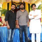 Jr NTR Trivikram NTR28 Pawan Kalyan at Movie Launch Event Photos